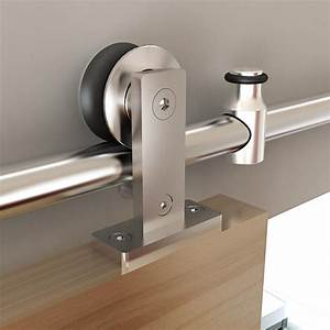 shop stainless glide 7875 in stainless steel interior With barn door rollers lowes