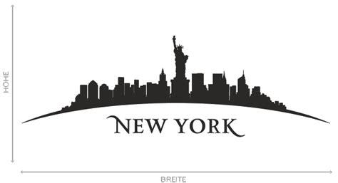 wandtattoo new york wandtattoo new york stadt skyline silhouette aufkleber wall wand 2079 ebay