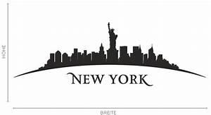 New York Schriftzug : wandtattoo new york stadt skyline silhouette aufkleber wall wand tattoo 2079 ebay ~ Frokenaadalensverden.com Haus und Dekorationen