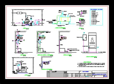 pump room system fire dwg detail  autocad designs cad