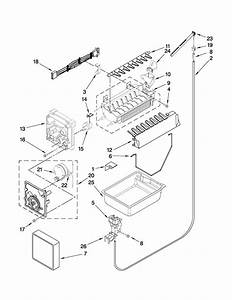 Icemaker Parts Diagram  U0026 Parts List For Model Gx5shtxvb02 Whirlpool