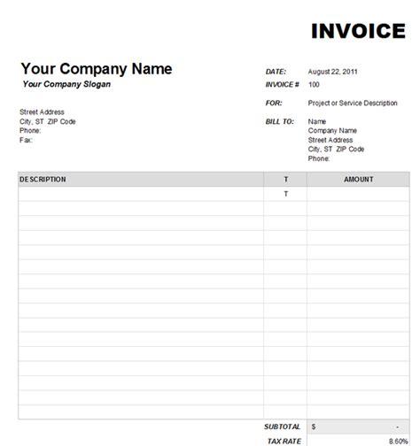 Blank Invoice Template Blank Invoice Template 1