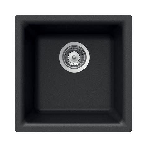 undermount bar sink black shop houzer cristalite onyx granite drop in or undermount