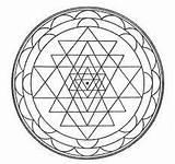 Mandala Wind Chimes Chime Nz Kolam Sri Yantra Concentration sketch template