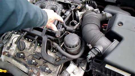 hyundai sonata camshaft position sensor removal youtube