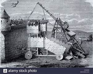Medieval (c13th) Sling Machine, Trebuchet or Siege Engine