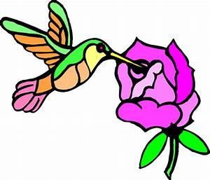 Hummingbird With Flower Clip Art at Clker.com - vector ...