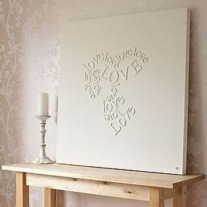 wooden letters glued to canvas and then painted over in With wooden letters on canvas
