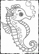 Seahorse Coloring Pages Outline Cartoon Drawing Seahorses Realistic Template Drawings Getdrawings Printable Templates Outlines Sketch Pretty Octopus Fish Getcolorings sketch template