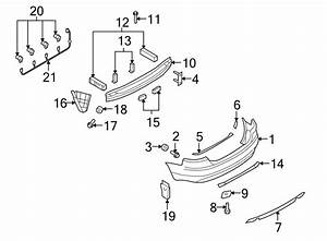 Audi S4 Bumper Cover Support Rail  Lower   A4  S4  Rs4  Rear  Center  Side - 8h0807989