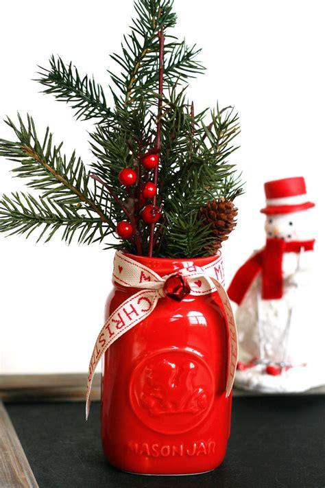 mason jar christmas centerpiece  modern easy diy ideas