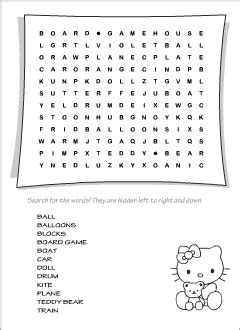 toys vocabulary  kids learning english printable