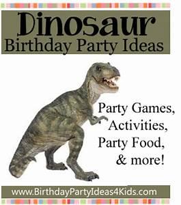 Dinosaur Party Theme Birthday Party Ideas for Kids