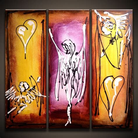 voice   angel modern abstract art painting  peter