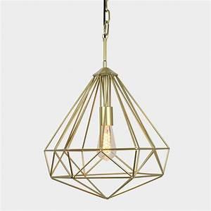 Chandelier diamond cage pendant light lighting