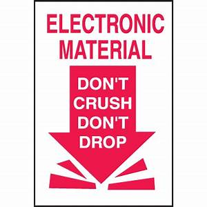 electronic material don39t crush don39t drop shipping labels With electronic shipping label