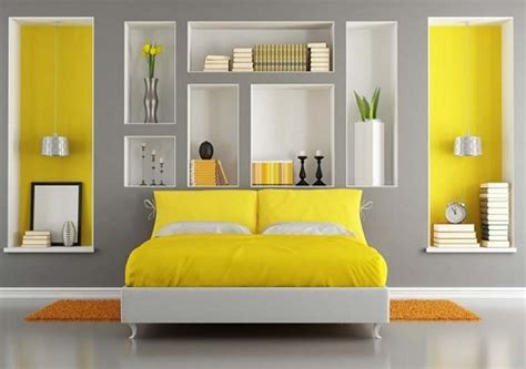 Bedroom Color Schemes Yellow by Grey Color Schemes For Bedroom Design