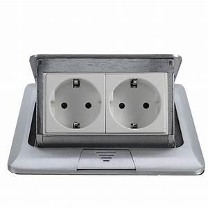 Panel Eu Standard Pop Up Floor Socket 2 Way Electrical