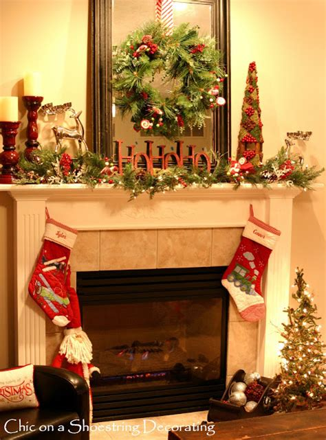 chic   shoestring decorating sprucin   christmas