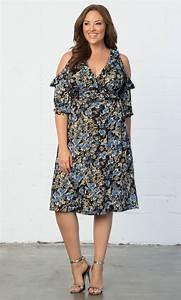 Cooler Size Chart Plus Size Cocktail Dress Barcelona Wrap Dress