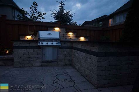 landscaping outdoor kitchen interlocking coping