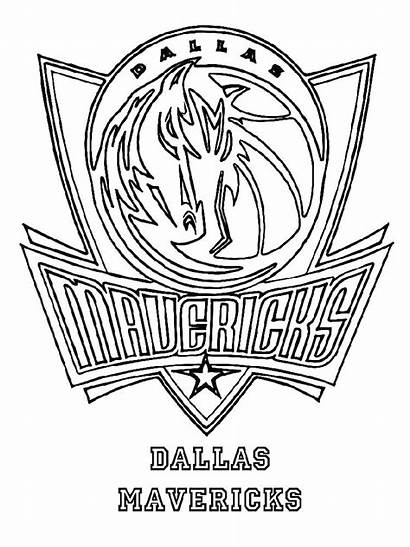 Coloring Nba Pages Basketball Team Dallas Bmw
