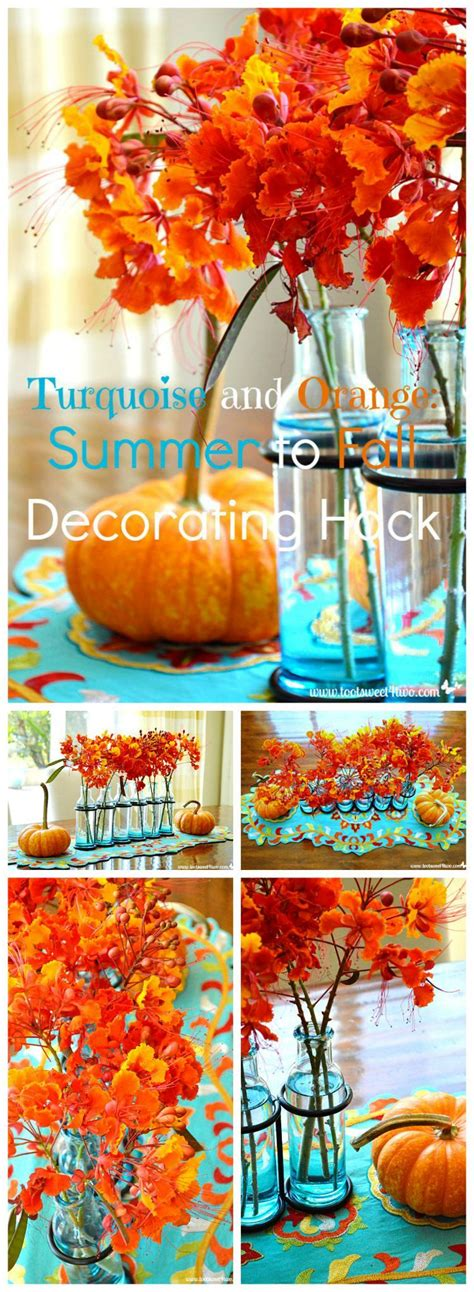 Kitchen Hacks Orange by Turquoise And Orange Summer To Fall Decorating Hack Diy
