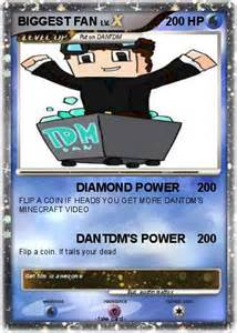 DanTDM Minecraft Pokemon Card