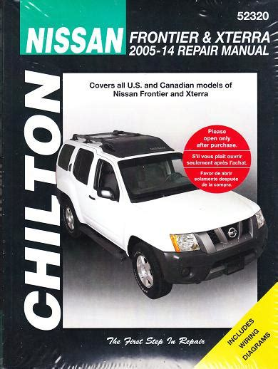 free auto repair manuals 2012 nissan xterra parental controls 2005 2014 nissan frontier xterra chilton s total car care manual