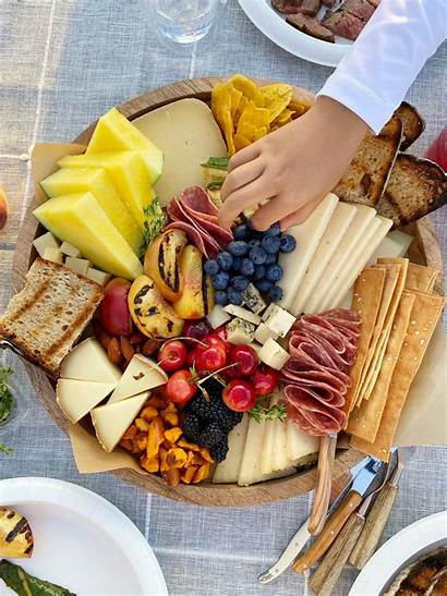 Board Cheese Fruit Grilled Themed Market Foods