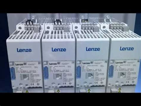 lenze 8400 series l variable frequency inverter installation youtube