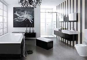 Modern black and white bathroom design from noken digsdigs for Black and white modern bathroom