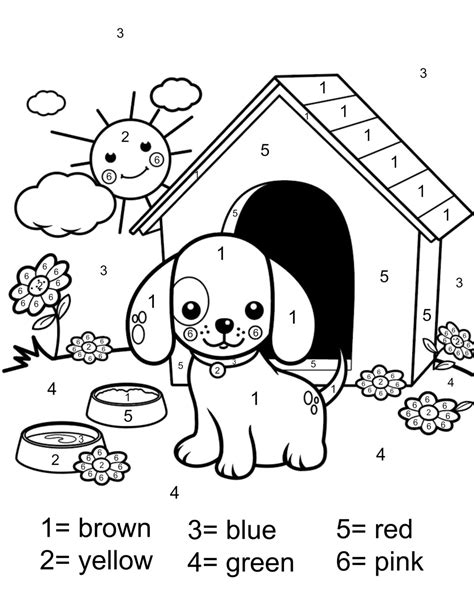 color  number coloring page  printable  mommy style