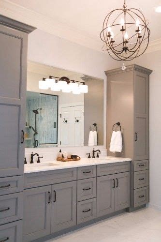masterbath vanities grey master vanity with two towers undermount sinks