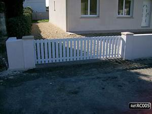 Portail Sur Mesure : portail coulissant simple pas cher sur mesure kit facile ~ Melissatoandfro.com Idées de Décoration