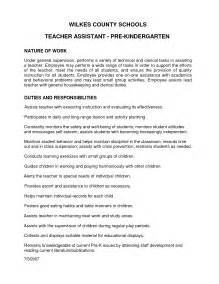 Preschool Responsibilities Resume by Appealing Recruitment Letter Sle Of Pre Kindergarten And Assistant Position