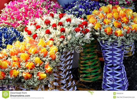 Dry Flowers Decoration For Home: Dry And Preserved Flower Decoration Royalty Free Stock