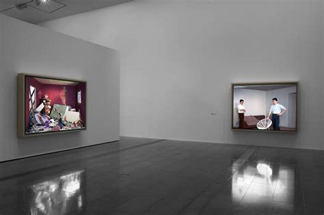 installation view of jeff wall photographs at ngv