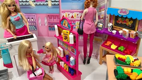 Barbie Doll Grocery Store Market Playset!! Barbie And