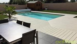10 exemples de plages de piscine grises en composite With carrelage plage piscine gris 5 piscine