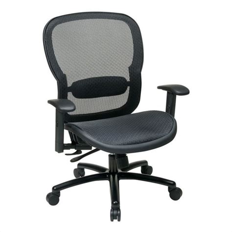 office chair with adjustment lumbar support in black 839