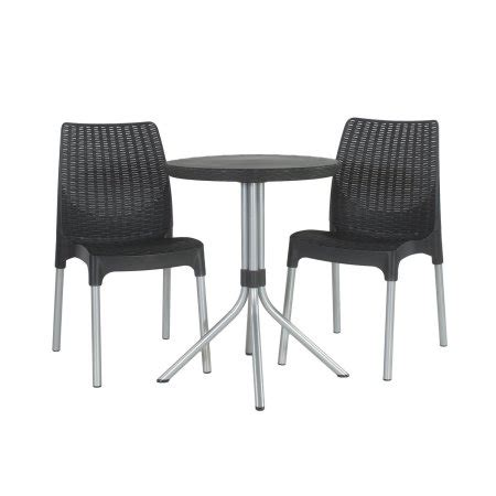 Keter Chelsea 3 Resin Outdoor Patio Furniture Dining