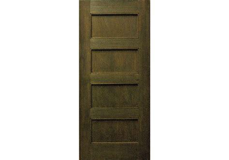 "80"" Mahogany 4-panel Shaker Interior Door 1-3/8"
