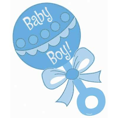 baby rattle boy clipart