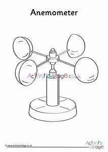 Anemometer Colouring Page