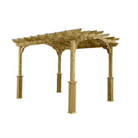 area rugs at home 10 ft x 12 ft wood pergola pa1012 the home depot