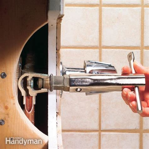 fixing a leaking faucet how to repair a leaking tub faucet the family handyman