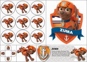 power rangers cake toppers paw patrol zuma free printable mini kit is it for