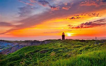 Sunset Windows Lighthouse Wallpapers Coastal Desktop Backgrounds