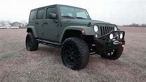 2015 Custom Jeep Wrangler Rubicon, Green Kevlar, Lifted ...
